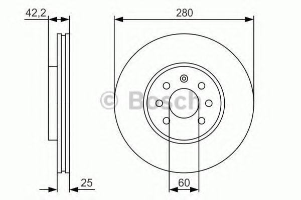 Тормозной диск Bosch BOSCH 0986479S55