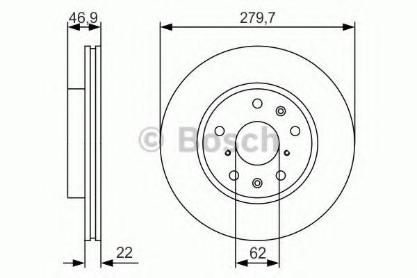 Тормозной диск  арт. 0986479S58