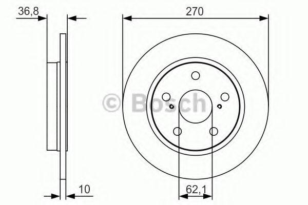 Тормозной диск Bosch BOSCH 0986479S64