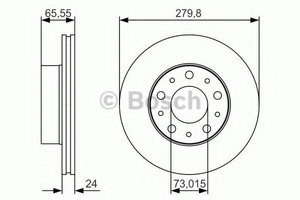 Тормозной диск Bosch  арт. 0986479S70
