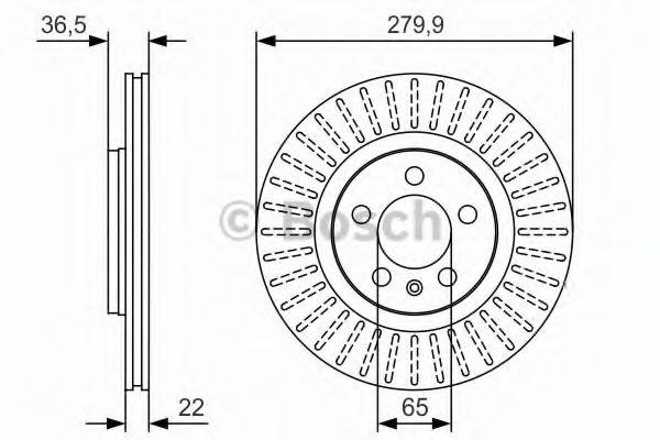Тормозной диск Bosch BOSCH 0986479R68