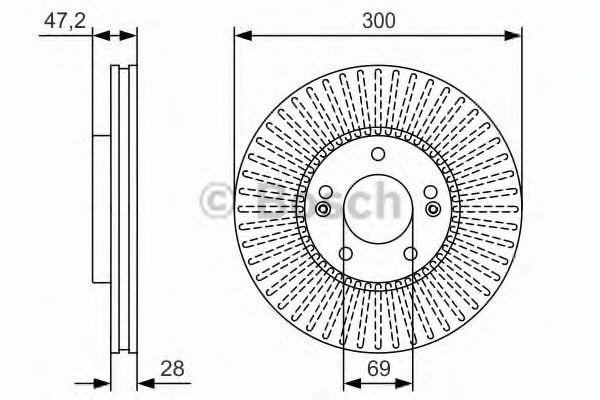 Тормозной диск передний  арт. 0986479S14