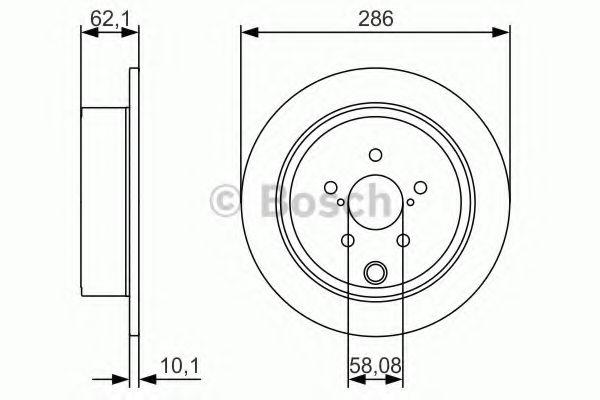 Тормозной диск BOSCH 0986479A10