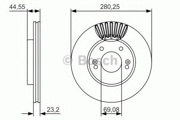 Тормозной диск  арт. 0986479A12