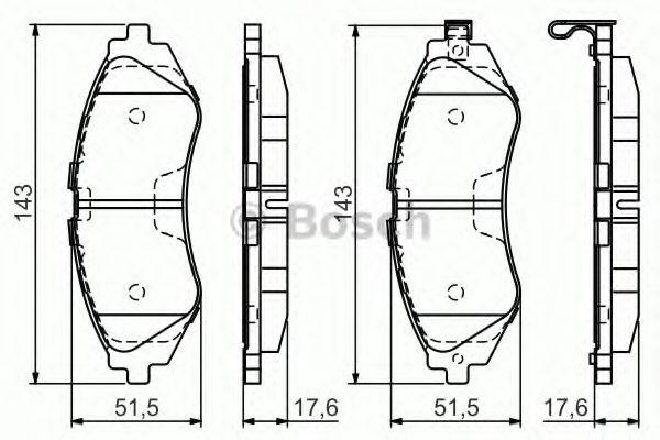 Тормозные колодки Bosch  арт. 0986495059