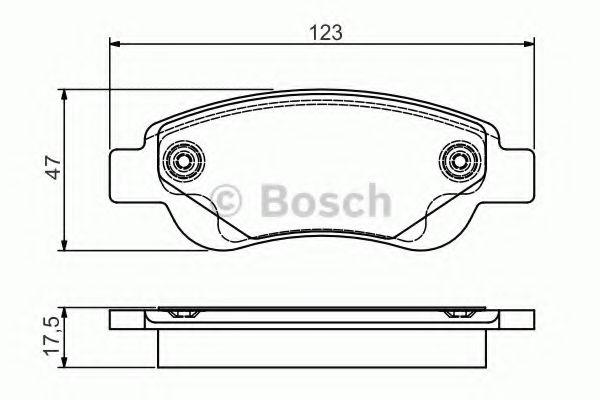 Колодки тормозные дисковые, комплект  (Пр-во Bosch)                                                   арт. 0986495085