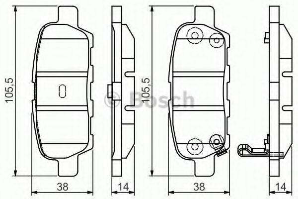 Колодка торм. INFINITI FX,NISSAN X-TRAIL (пр-во Bosch)                                                арт. 0986495089