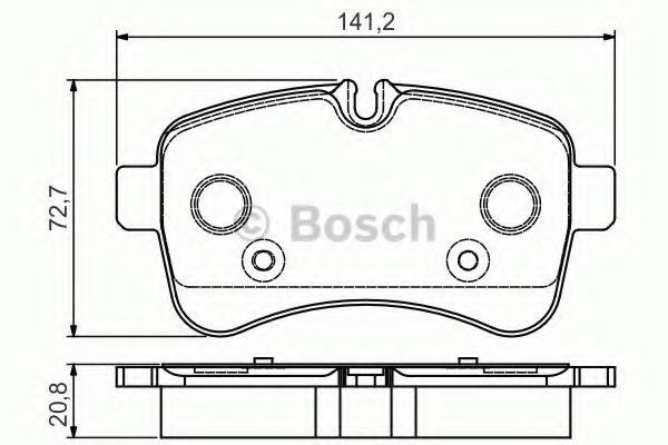 BOSCH  Тормозные колодки зад. IVECO Daily III 06 - С Model BOSCH 0986495120