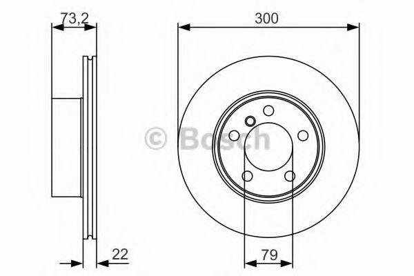 Гальмівний диск  арт. 0986479A18