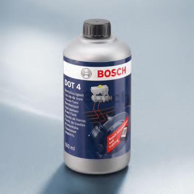 Тормозные жидкости Тормозная жидкость Bosch BRAKE FLUID DOT 4 (0,5л.)  арт. 1987479106