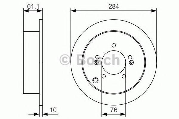 Тормозной диск Bosch  арт. 0986479U37