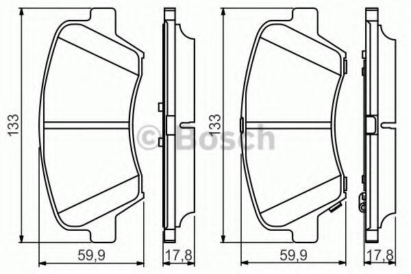 Тормозные колодки дисковые  арт. 0986495343