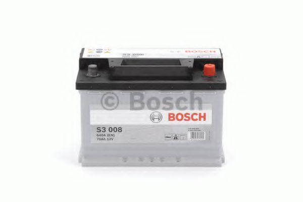 Аккумулятор Bosch S3 12V 70Ah 640A [-/+] 278x175x190  арт. 0092S30080