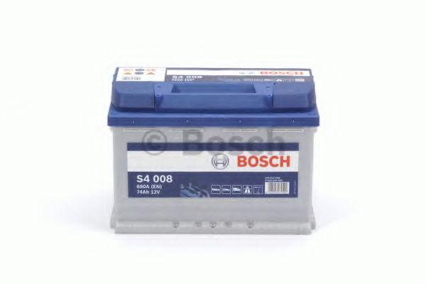Аккумулятор   74Ah-12v BOSCH (S4008) (278x175x190),R,EN680                                            арт. 0092S40080