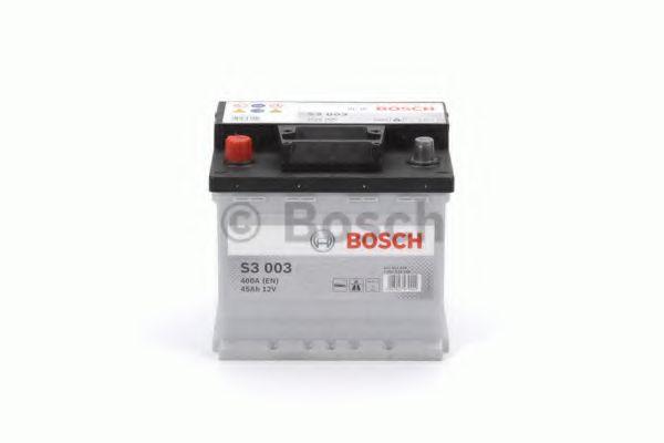Аккумулятор   45Ah-12v BOSCH (S3003) (207x175x190),L,EN400                                            арт. 0092S30030