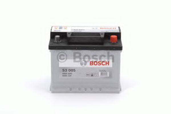 Аккумулятор   56Ah-12v BOSCH (S3005) (242x175x190),R,EN480                                            арт. 0092S30050