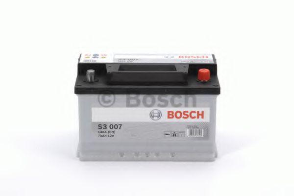 Аккумулятор   70Ah-12v BOSCH (S3007) (278x175x175),R,EN640                                            арт. 0092S30070