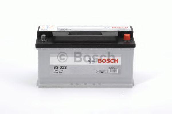 Аккумулятор   90Ah-12v BOSCH (S3013) (353x175x190),R,EN720