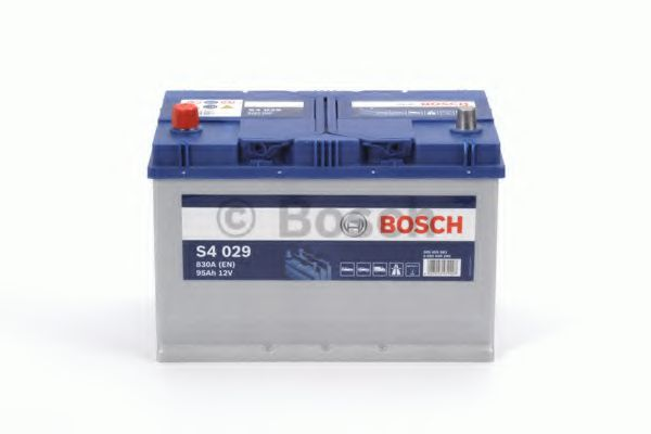 Аккумулятор Bosch (J) S4 Silver 95Ah, EN 830 левый