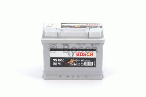 Аккумулятор   63Ah-12v BOSCH (S5006) (242x175x190),L,EN610                                            арт. 0092S50060