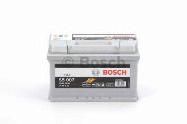 Аккумулятор   74Ah-12v BOSCH (S5007) (278x175x175),R,EN750                                            арт. 0092S50070