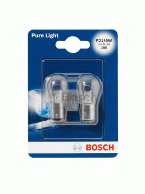 Лампа накаливания P21/5W 12V 21/5W PURE LIGHT (blister 2 шт) (пр-во Bosch)                           в интернет магазине www.partlider.com