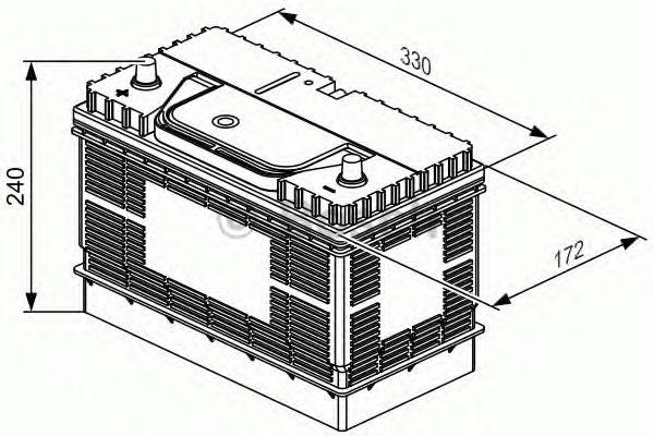 Аккумулятор  105Ah-12v BOSCH (T3050) (330x172x240),L,EN800