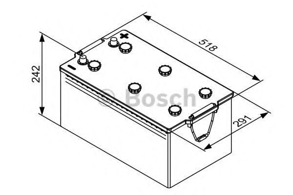 Аккумулятор  220Ah-12v BOSCH (T3081) (518x276x242),L,EN1150