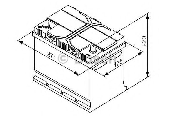Аккумулятор   70Ah-12v BOSCH (S4027) (261x175x220),L,EN630(Азия)                                      арт. 0092S40270