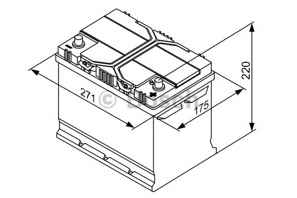 Аккумулятор Bosch (J) S4 Silver 70Ah, EN 630 правый