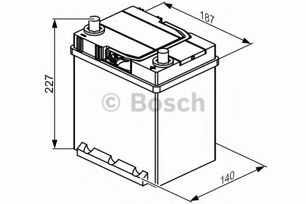 Аккумулятор Bosch (J) S4 Silver 40Ah, EN330 правый