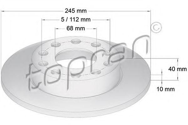 Тормозной диск MINTEX арт. 109526