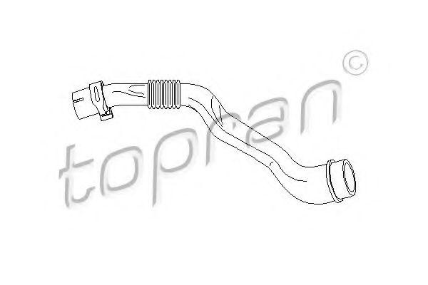 Шланг, вентиляция картера TOPRAN 111127