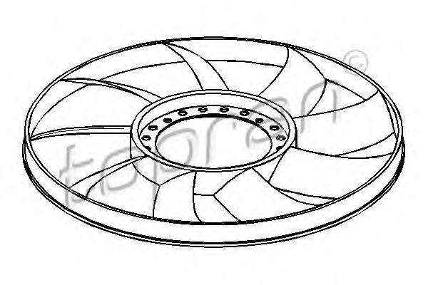 Крильчатка вентилятора TOPRAN 110295
