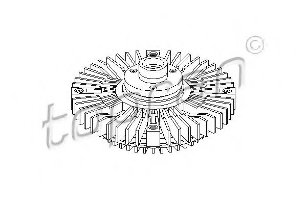 FAN CLUTCH VISCOUS TOPRAN 109607
