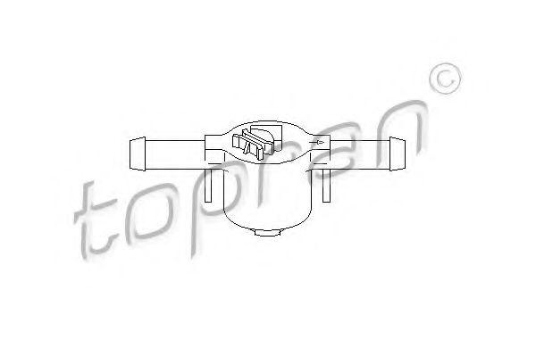 Клапан фільтру палива TOPRAN 109069