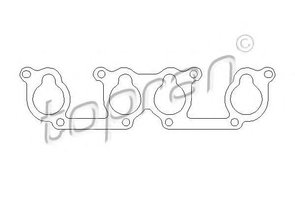 Прокладка, впускной коллектор ELRING арт. 100724