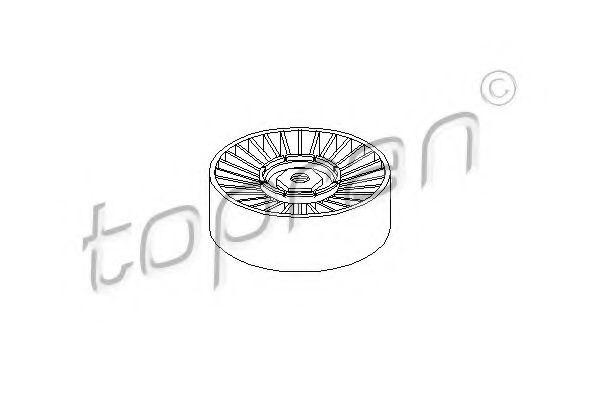 Паразитный / ведущий ролик, поликлиновой ремень TOPRAN арт. 100327