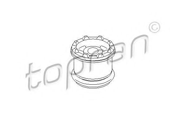 Подушка спереди кпп л/п AUDI A4, A6, A7 96- TOPRAN 107983