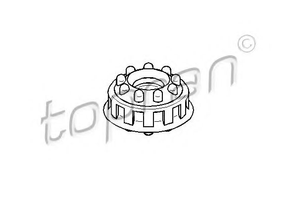 443512331 Подушка верх. крепл. амортизатора задн. AUDI 100 TOPRAN 107093