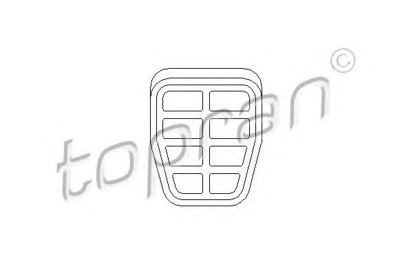Педали, накладки на педали Накладка педали HANS PRIES арт. 103409