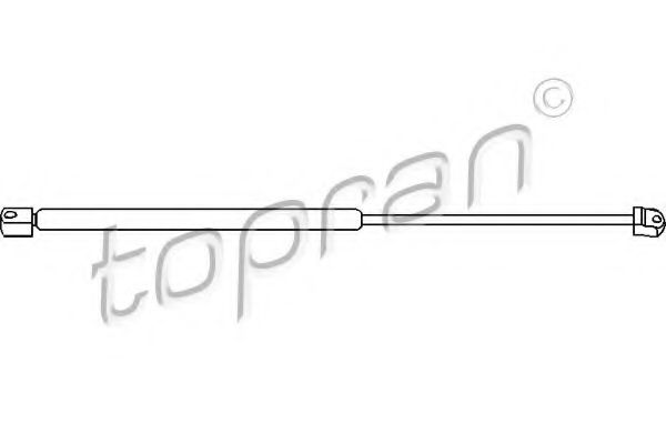 1H6827550A Амортизатор задн. крышки VW GOLF 7/91- TOPRAN 103163