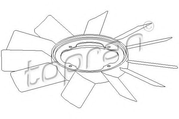 Вентилятор радиатора E24 E26 E30 TOPRAN 500903