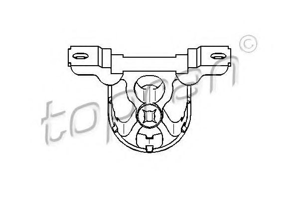 Holding Bracket, silencer TOPRAN 500177