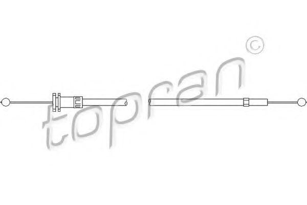 Трос привода замка капота TOPRAN 112159