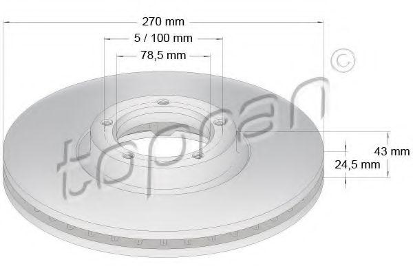 Тормозной диск  арт. 301166