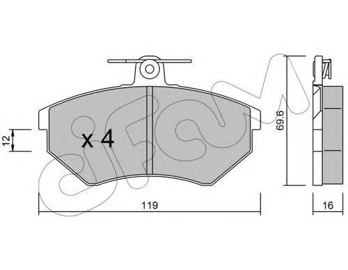 Колодка торм. SEAT CORDOBA (6K2/C2), IBIZA II (6K1), VW GOLF II передн. (пр-во Cifam)                CIFAM 8220500