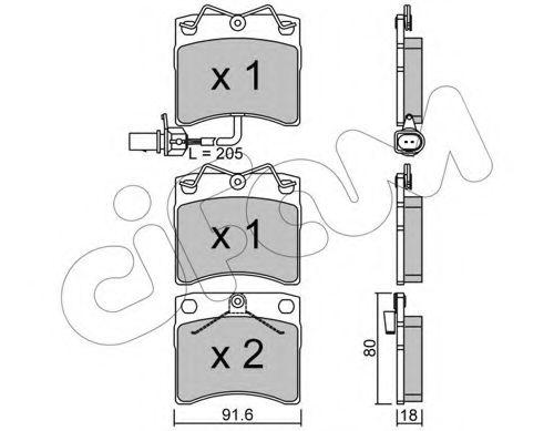Колодка торм. VW T4 передн. (пр-во Cifam)                                                            CIFAM 8221632