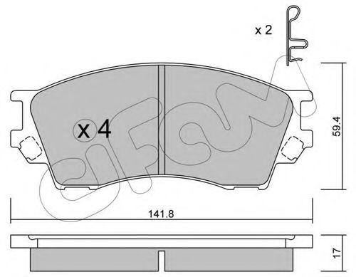 Колодка торм. MAZDA XEDOS 9 передн. (пр-во Cifam)                                                     арт. 8224730