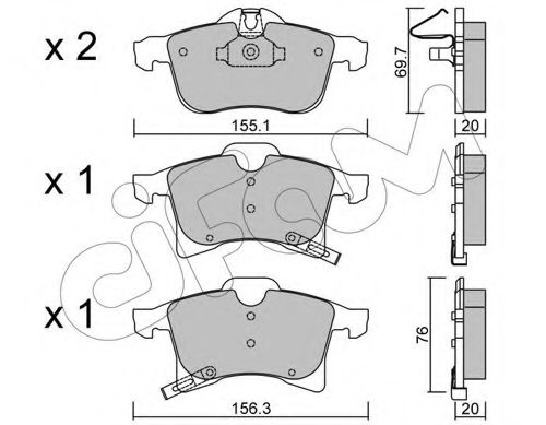 Колодка торм. OPEL ASTRA H передн. (пр-во Cifam)                                                     CIFAM 8225390
